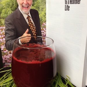 Red juice named Dr. Schulze's Blood Building Juice