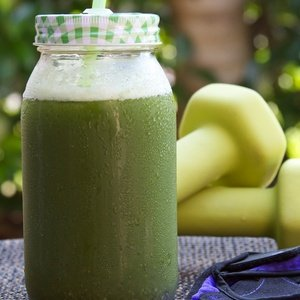 Green juice named Workout Buddy