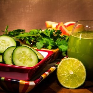 Green juice named Mexican-Style Jugo