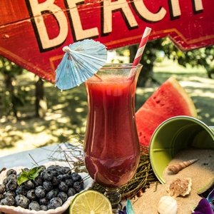 Red juice named Summer Breeze