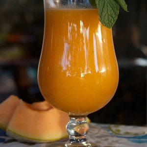 Orange juice named Crazy for Cantaloupe