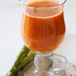 Orange juice named Asparagus Delight